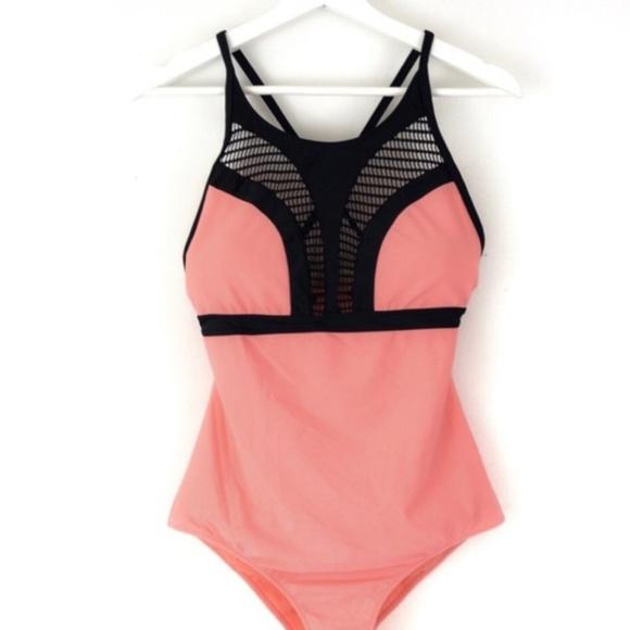 bfa3e21e5d Vanilla Beach Swim | Coral Suit With Black Accent | Poshmark